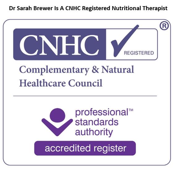 CNHC registered nutritional therapist